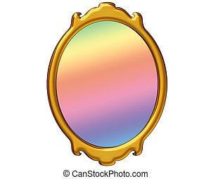 magia, espelho