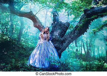 magia, foresta, principessa