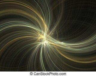 magia, fractal, struttura, luminosità