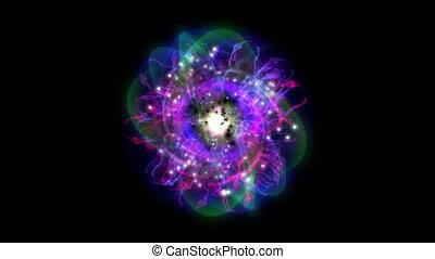 magia, gwiazda, atom, 4k