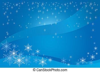 magia, inverno, fondo