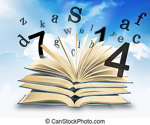 magia, libro, cartas