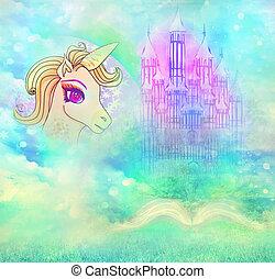 magia, libro, de, fantasía, historias