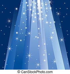 magia, luce, (illustration)