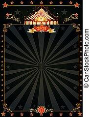 magia, nero, circo