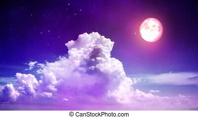 magia, niebo, noc