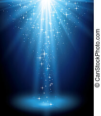 magia, plano de fondo, resumen, luz azul