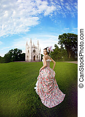 magia, vindima, castelo, vestido, princesa, antes de