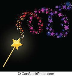 magia, wand.