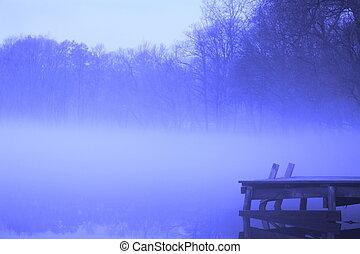 Magic and foggy morning