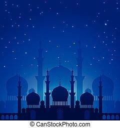 Magic arabian night in beautiful shades of blue
