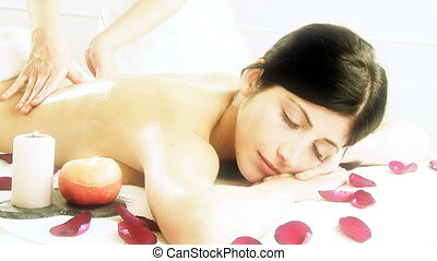 Magic atmosphere in spa massage