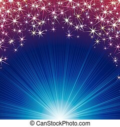 Magic Background with Stars and Sparks. Vector