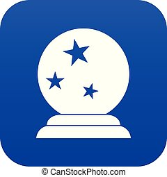 Magic ball icon digital blue