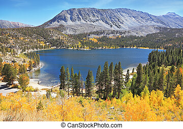 Magic beauty blue lake in Yosemite