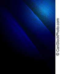 magic blue light over textile surface, science details