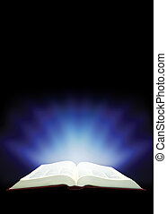 Magic book - Fantastic education book. wide-open book ...