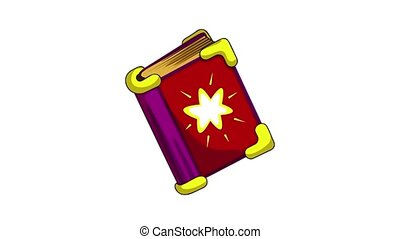 Magic book icon animation best object on white background