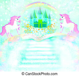 Magic book of fantasy stories