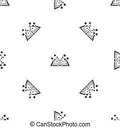 Magic book pattern seamless black