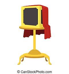 Magic box cartoon icon