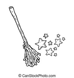 magic broom cartoon