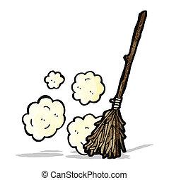 magic broom cartoon