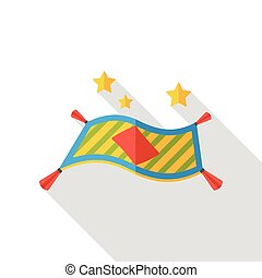 Magic carpet flat icon