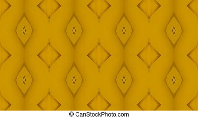 Magic Carpet Golden Abstact Loop - A gold yellow...