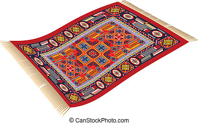 Magic Carpet - illustration of magic carpet (flying carpet)...