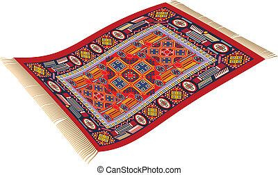 Magic Carpet - illustration of magic carpet (flying carpet)...