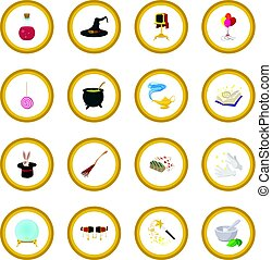 Magic cartoon icon circle
