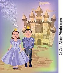 Magic castle and princess prince