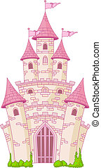 Magic Castle - Illustration of a Magic Fairy Tale Princess...
