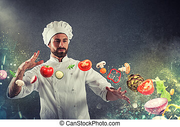 Magic chef ready to cook a new dish