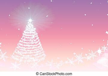 Magic Christmas tree background illustration