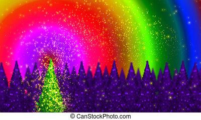 Magic christmas tree.