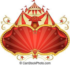 Magic circus big top - A circus frame with a big top and a...