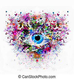 Magic colorful eye