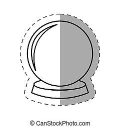 magic crystal ball cut line vector illustration eps 10