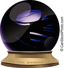 Magic crystal ball - Full vector representation of a crystal...