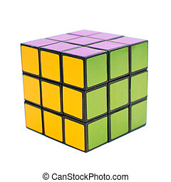 Magic Cube - Magic rubick cube, image is isolated over a...