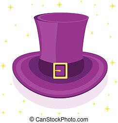 Magic cylinder hat, vector illustration