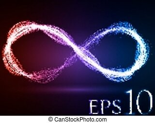 magic energy loop effect - energy waves loop (red,violet and...
