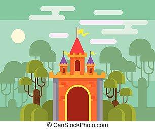 Magic fantasy castle