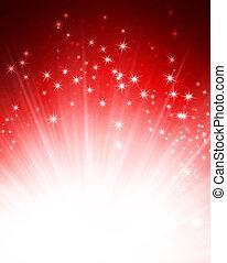Magic festive background - Shiny red background with ...