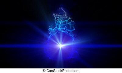 magic fire blue