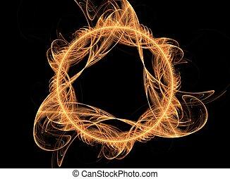 Magic fire flame - fantasy 3D art