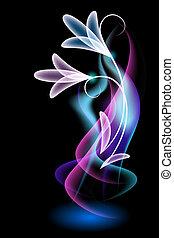 Magic  flower and smoke