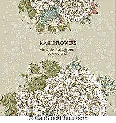 Magic flowers dream vintage